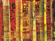 Two of Gerhard Richter's editions are based on formerly painted oil paintings that had been part of his Catalogue Raisonné already. They were later cut apart and framed individually. Abstract Art Images, Abstract Paintings, Gerhard Richter Painting, Beautiful Sketches, Art Tutorials, Collage Art, Cool Art, Art Photography, Illustration Art