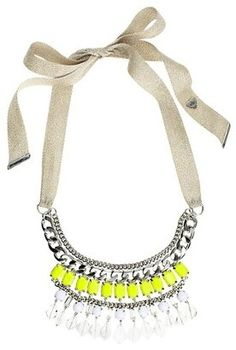 ShopStyle: Bib Necklace by Juicy | I absolutely love this. Just enough rocker style to it. Looks like Coachella gear to me :)