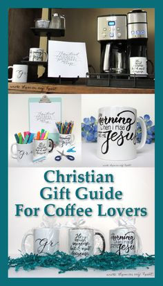Look no further. Here is the ideal Christian Gift Guide for your favorite coffee lover! From mugs to coffee to wall art and even books - it's all here! #giftguideforcoffeelovers