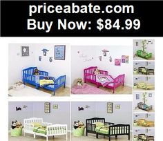 Kids-Furniture: Classic Toddler Bed Kids Boys Girls Childrens Bedroom Furniture Wood Baby Cribs - BUY IT NOW ONLY $84.99