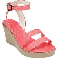 bb49d09c60db Women s Crocs Leigh Wedge - Storm Mushroom with FREE Shipping   Exchanges.  Come straight off the beach and hit the street in style with The