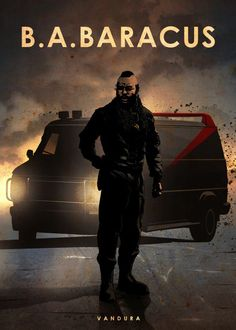 ba baracus bosco sergeant bad attitude a team ateam car legends movie film sport cars racing race speed wheels black darkness