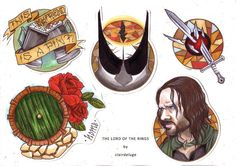 Lord of The Rings Flash A4 Print by ClairDeluge on Etsy