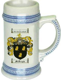 Mcknight Coat of Arms / Family Crest stein mug - $21.99