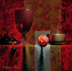 Red Plum by David Cheifetz Oil ~ 8 x 8