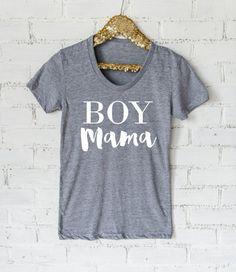 Boy Mama Ladies Tee or Raglan- Mother Hustler- Mom Life Shirt- Mama Shirt- Baby Shower- Mother of Boys