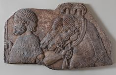 """Neo-Assyrian Relief, C. 721-705 BCFrom Dur-Sharrukin, the """"Fortress of Sargon"""", present day Khorsabad, showing a foreign groom in a tributary procession. Made of gypsum alabaster. Dur-Sharrukin was the Assyrian capital in the time of Sargon II of..."""