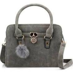 Lady Women Lock Faux Leather Tote Hobo Shoulder Bag Cute Purse fur ...