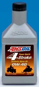 AMSOIL Formula 4-Stroke PowerSports 0W-40 will protect your snowmobile in extreme cold. See it here - http://shop.syntheticoilandfilter.com/motor-oil/4-stroke/formula-4-stroke-powersports-0w-40/