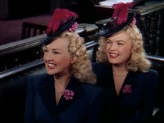 """June Haver and Betty Grable in """"The Dolly Sisters""""."""