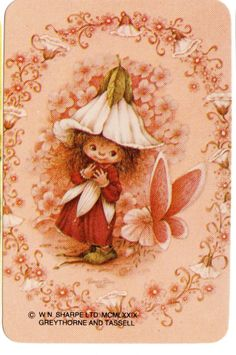 800 383 Blank Back Swap Cards MINT Victoria Plum Fairy butterfly pink Decoupage, Victoria Plum, Plum Art, Peach And Green, Vintage Drawing, Flower Fairies, Cute Illustration, Vintage Cards, Fantasy Art