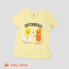 ¿Quieres camisetas de enfermería para tu grupo de amigas? En Jolly Joker pueden crearlas como quieran, agregarle texto, color e imágenes, es super fácil y rápido, entra ya, diseña y ordena jollyjoker.co