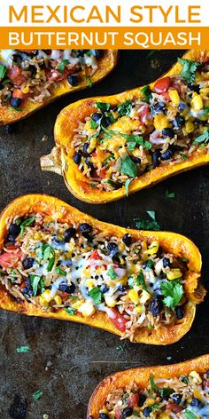 Stuffed Butternut Squash is a meatless meal packed full of fresh flavors inspired by Vegetable Dishes, Vegetable Recipes, Butter Squash Recipe, Cooking Recipes, Healthy Recipes, Meatless Recipes, Vegetarian Cooking, Lunch Recipes, Clean Eating Snacks