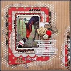 """One last """"Capture Life"""" layout PLUS some Kaisercraft """"Mix & Match"""" - by Linda Eggleton Love Scrapbook, Mixed Media Scrapbooking, Scrapbooking Layouts, Scrapbook Cards, Cowboy Theme, Arrow Print, Candy Cards, Love Cards, Mix Match"""