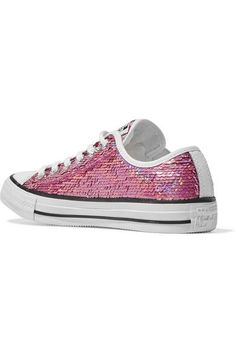Converse - Chuck Taylor All Star Sequined Sneakers - Pink - UK4.5