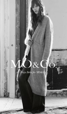 Freja Beha Erichsen Models Cool Girl Staples in MO&Co. Fall 2015 Ads