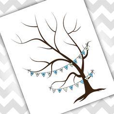 Wedding Tree Thumb print Guest book Wedding by EverLovingAdelaide, $25.00