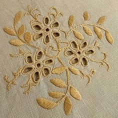 Vintage embroidery bouquet flower Satin-stitch by MyWealth on Etsy