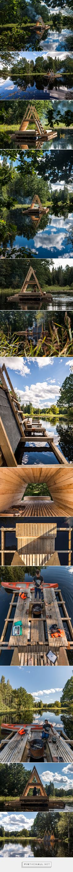 students build floating structures for flooded area in estonia - created via https://pinthemall.net
