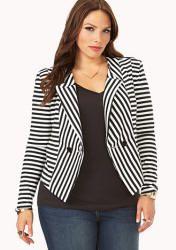 Striped Jacket, Sizes 1X-3X | ElegantPlus.com Editor's Pick
