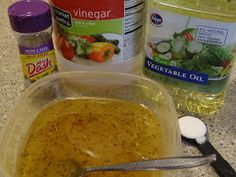 Sodium-Free Italian Dressing Ingredients: 1/2 cup apple cider vinegar 1/2 cup oil 1-2 tsp Mrs. Dash Onion & Herb seasoning 1 tsp sugar Directions: Combine all ingredients, stirring until dissolved. Store sealed in the fridge. Use for your favorite salads or marinades.