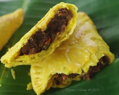 Note: I did not have TVP granules so I used chunks and minced them as much as I could in the food processor. You should be able to see the mince in Jamaican Patties more but you get that I was desp...
