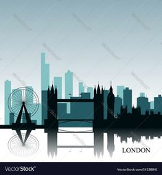 London cityscape Vector Image by LAUDISENO
