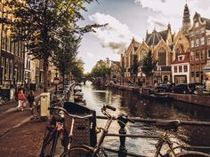 Canals of Amsterdam- they are actually so dam beautiful...