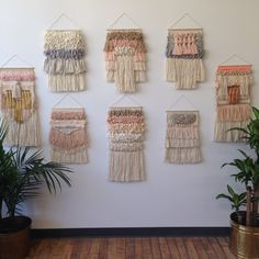 Weaving woven wall hanging tapestry collection by Maryanne Moodie. Www.maryannemoodie.com