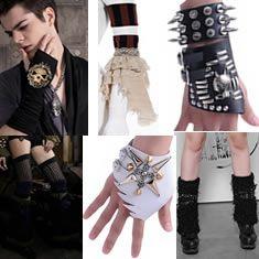 Emo Gothic Steam Punk Rock Gloves, Arm Warmers & Leg Warmers - Liquiwork.com