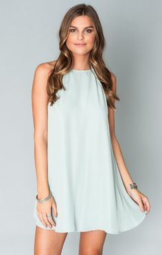 Pale blue swing dress