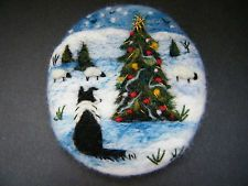 Handmade needle felted brooch/Gift    'Gwen and the ......  '    by Tracey  Dunn