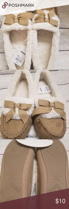 d9adad85cf0c4 SONOMA MOCCASIN SLIPPERS Moccasin slippers by Sonoma size 11-12. NWT Sonoma  Shoes Slippers
