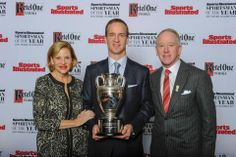 Proud Parents Archie & Olivia Manning with son Peyton Manning the Sports Illustrated Sportsman of the Year!!