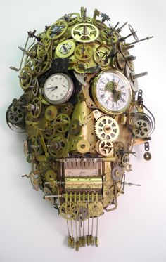 """""""Schwarzwald"""" assemblage/sculpture of found vintage and antique objects by Assemblique™"""