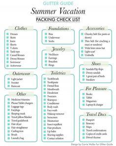 Glitter Guide Summer Packing List