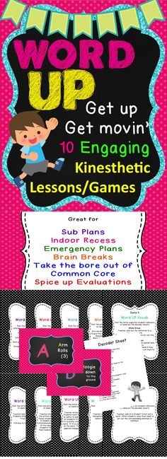 Word Up games are a fun way to engage the learners and offer a genuine brain break! There are 10 games included but the possibilities for other uses for this set are endless. You can apply these games to other SPI's to give any lesson a boost.