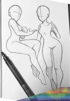 Anime Drawings Sketches, Body Sketches, Cool Art Drawings, Drawing Body Poses, Drawing Tips, Body Drawing Tutorial, Sketch Poses, Anime Poses Reference, Art Inspiration Drawing