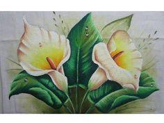Como dibujar flores. Cómo dibujar una Cala (Alcatraz, Lirio de agua) - YouTube