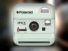 Polaroid Icon White by Alex Bender, via Behance