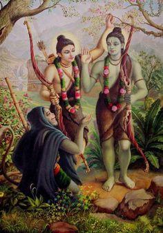 Kala Ksetram, Meeting of Rama, Lakshmana and Hanuman Shiva Hindu, Hindu Deities, Hindu Art, Shiva Shakti, Arte Krishna, Rama Lord, Shri Ram Wallpaper, Lord Rama Images, Lord Hanuman Wallpapers