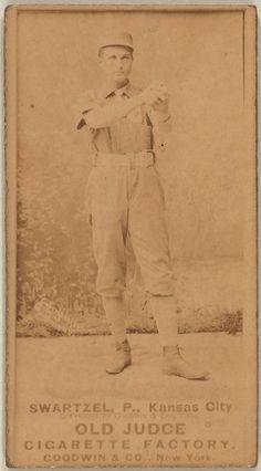 Park Swartzel, Kansas City Cowboys, baseball card portrait