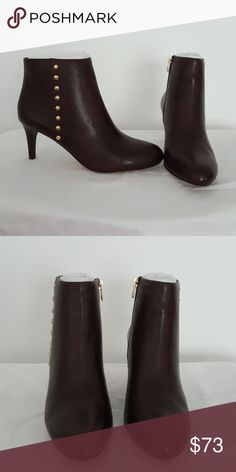 """Ankle Boots ▪Coach  ankle boots ▪ Gold hardware.   ▪Approx 2"""" ▪ Chestnut color All communications through Poshmark comment box. Thank You! Coach Shoes Ankle Boots & Booties"""