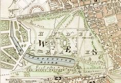 """London Parks: Hyde Park section of """"Improved map of London for 1833, from Actual Survey. Engraved by W. Schmollinger, 27 Goswell Terrace"""""""