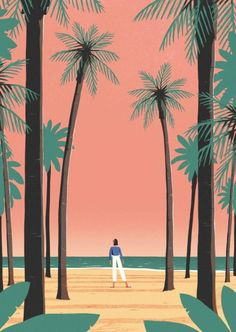 "daviddoran: "" Sunset Palm Trees. @bareps @bareps-eu """