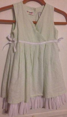 Specialty Girl size 5 lime green & white fully lined with white ribbon Dress EUC #SpecialtyGirl #ChurchDressyEverydayHolidayWedding #GirlsFashion