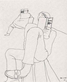 David Hockney - Line drawing