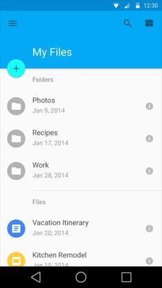 Google Material Design: Drive / ?