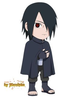 Chibi Sasuke Eternal Mangekyou - Boruto The Movie by Marcinha20