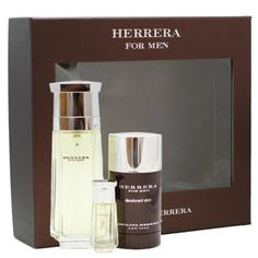 Herrera By Carolina Herrera 3 Pc Gift Set For Men by Carolina Herrera. $59.99. We offer many great sales and discounts making this fragrance cheaper than at department stores.. 3 Pc. Gift Set ( Eau De Toilette Spray 3.4 Oz + Deodorant Stick 2.1 Oz + Edt Miniature 7 Ml) for Men. All our fragrances are 100% originals by their original designers. We do not sell any knockoffs or immitations.. Herrera Cologne for Men 3 Pc. Gift Set ( Eau De Toilette Spray 3.4 Oz + Deodorant Stick ...